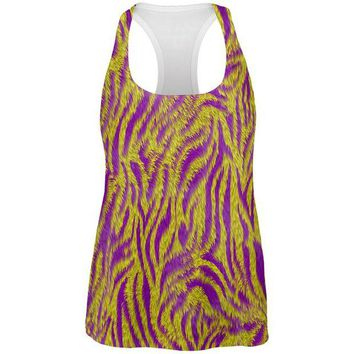 ONETOW Mardi Gras Cajun Tiger Costume All Over Womens Work Out Tank Top