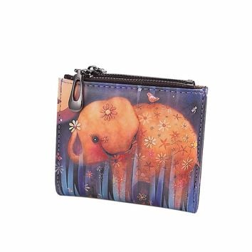 Fun Elephant Panda animals Wallet Coin Purse Fashion Clutch