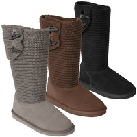 Pawz by Bearpaw Knit Shaft Shearling Lined Boot
