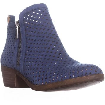 Lucky Basel3 Perforated Ankle Boots, Dark Chambray, 5 US / 35 EU