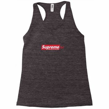 supreme (ly) cheaper than the real thing Racerback Tank