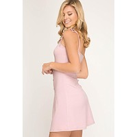 Button Down Summer Dress - Pink