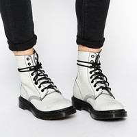 Dr Martens Core Pascal White/Black 8 Eye Ankle Boots