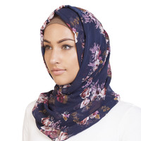BLUE VINTAGE HIJAB - £11.99 : Inayah, Islamic clothing & fashion, abayas, jilbabs, hijabs, jalabiyas & hijab pins
