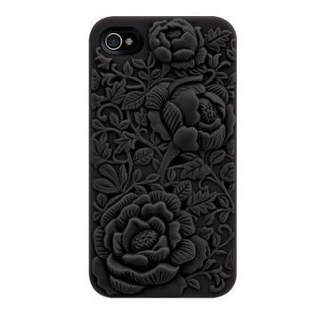 Silicone Rose Embossing Case for iPhone 5 / 5s