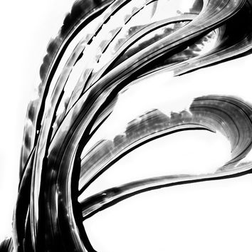 Black and White Painting BW Abstract Art Artwork High Contrast Depth Black Magic 261 Minimalism Minimalist Modern Contemporary Cummings