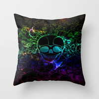 COLORFUL SKULL Throw Pillow by Acus