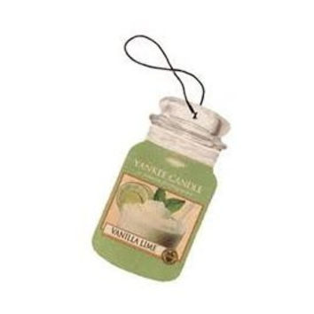 Vanilla Lime Scent Car Jar Paper Air Freshener by Yankee Candle