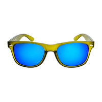 Cool Reflective Mirror Lens Party Style Matte Wayfarer Sunglasses W2110