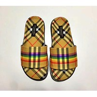 Burberry Summer Popular Women Men Beach Home Slipper Sandals Shoes I-CSXY
