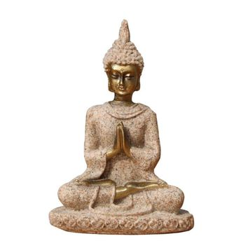 1pcs The Hue Sandstone Meditation Buddha Statue Sculpture Handmade Figurine Stone Made Buddhism Statue  Home Decoration