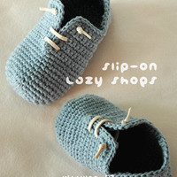 Slip-On Toddler Lazy Shoes Crochet PATTERN, Instant PDF Download.