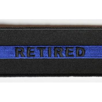 RETIRED subtle Police Officer Patch