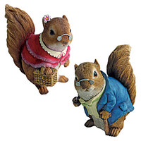Design Toscano Grandparent Squirrel Garden Statue (Set of 2)