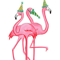 Birthday Greeting card, Pink Flamingo - Rosie, Rosalie, Rosaline