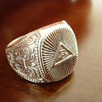 TREASURES OF TUTANKHAMUN all seeing eye freimaurer  Masonic   Historical ring