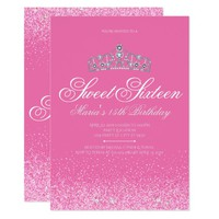 Pretty Pink Glitter, Sweet 16 Invitations