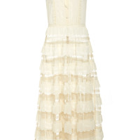 Sleeveless Scallop Midi Dress | Moda Operandi