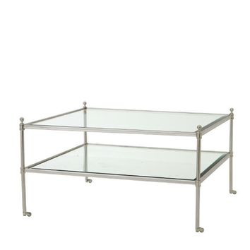 Glass Coffee Table On Wheels | Eichholtz Aubrey