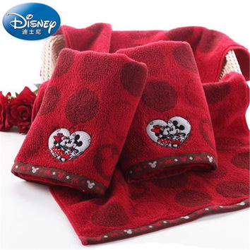 Disney's genuine Mickey Mouse Embroidery towel 100% cotton adult's face towel,Lovers / Wedding new products.