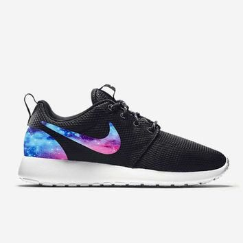 Custom Nike Roshe Run Shoes Galaxy V1 Fabric Pattern Men's Women's Birthday Present, P