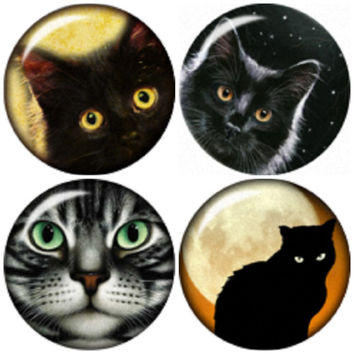 "Meow snap button charms ""20mm 4 Pack"" snap button fit Noosa Ginger snap Bracelet"
