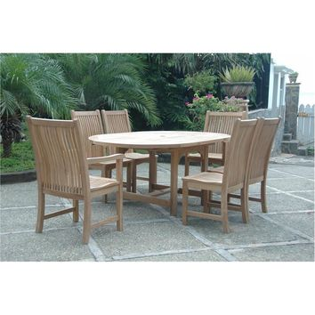 Anderson Teak Bahama Extension Table + 6 Chicago Dining Chairs