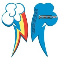 My Little Pony Rainbow Cutie Mark Rubber Pin - My Little Pony - | TV Store Online