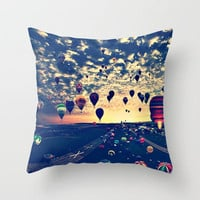 air balloons Throw Pillow by Sjaefashion | Society6