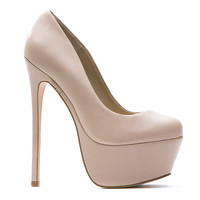 ZIGI GIRL SPYGLASS PLATFORM PUMP - BISQUE LEATHER