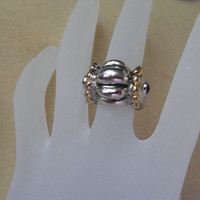 GE Esposito, Vintage Ring of 14KT  Gold and Silver.   Just beautiful.  Size 5.