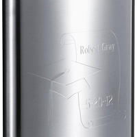 Visol Graduate Theme Stainless Steel Flask - 8 oz