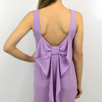 Sleeveless Bow Beauty Dress in Lilac
