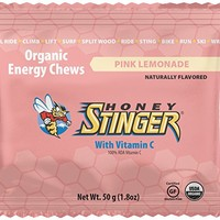 Honey Stinger Organic Energy Chews, Pink Lemonade, 1.8 Ounce (Pack of 12)