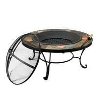 Outdoor Classics Mosaic Fire Pit Table with Copper Accents