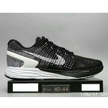 Nike Lunarglide 7 moon fly line men and women casual sports running shoes F-HAOXIE-ADXJ Black