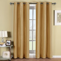 Soho Gold Grommet Blackout Window Curtain Panel