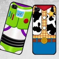 Couple Woody & Buzz Lightyear Toy Story iPhone Case - Cover - iPhone 4/4s Case - iPhone 5 Case , Samsung Galaxy S3 Case , Galaxy S4 Case