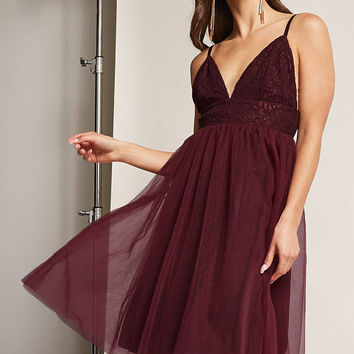 Fit and Flare Tulle Dress