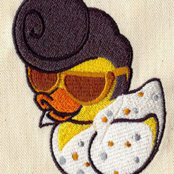 The King rubber duck embroidered baby feeding by MorningTempest