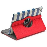 Aduro ROTATA CABANA Pattern 360 Degrees Rotating Stand Case for Apple iPad Mini / 2 / 3 (Retail Packaging)