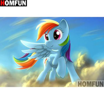 5D Diamond Painting Rainbow Dash in the Clouds kit