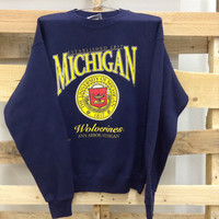 Vintage College Sweatshirt- University of Michigan