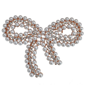Butterfly Pearls Diamonds Fashion Accessory [4919878276]