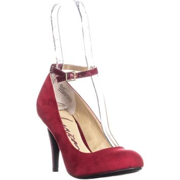 AR35 Foxy Ankle Strap Classic Heels, Red, 6 US