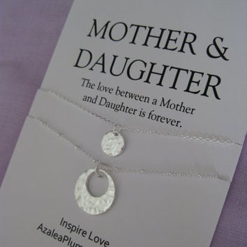 Mother Daughter Necklace Set. Birthday Gift for Mom. 50th Birthday Gift mother daughter. Gift for her. Gift for mom