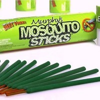 Murphy's Mosquito Sticks - All Natural Insect Repellent Incense Sticks - Bamboo Infused with Citronella, Lemongrass & Rosemary - 12 Per Tube