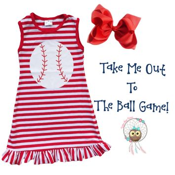 RTS Baseball Dress! Super Cute & Limited Stock!