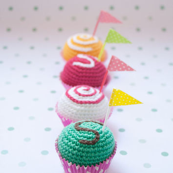 Ice cream balls or small cakes. Crochet toy [Summer collection]