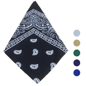 Bandana Scarf Square Head Scarf Bandanas Headwear Sweat-proof & Windproof Bandanas hippie Camping Cycling Neck shawl bandana